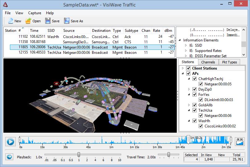 VisiWave | VisiWave Traffic - Wireless Packet Capture and Analysis